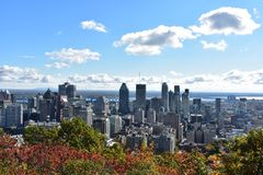 Citiview som är i stadens centrum i Montreal Kanada royaltyfri foto