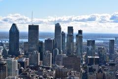 Citiview som är i stadens centrum i Montreal Kanada royaltyfri fotografi