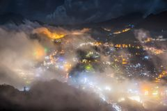 Citiyscape merveilleux au Vietnam image stock