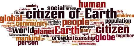 Citizen of Earth word cloud. Concept. Vector illustration royalty free illustration
