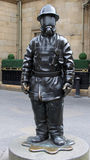 Citizen Firefighter bronze sculpture, Glasgow Royalty Free Stock Photography
