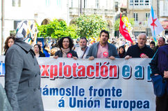 Citizen protest in Spain Royalty Free Stock Photo