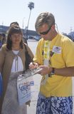 Citizen Registering To Vote, Los Angeles, California Royalty Free Stock Photography