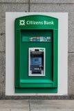 Citizen's outside ATM Machine. Stock Photos