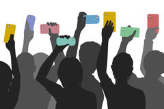 Citizen smartphone journalism Stock Images