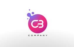 CITIZENS BANDbrief Dots Logo Design met Creatieve In Bellen stock illustratie