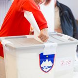 Citizens voting on democratic election. Stock Photography