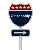 Citizenship this way sign Stock Photography