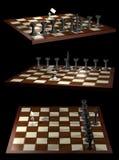Citoyen et gouvernement d'opposition d'allégorie d'échecs illustration stock