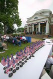 Citoyens américains au Jour de la Déclaration d'Indépendance Photos stock