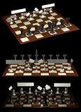 Citoyens et gouvernement d'opposition d'allégorie d'échecs illustration de vecteur