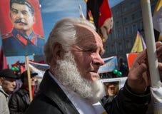 Citoyens dans la démonstration politique de mayday Photographie stock