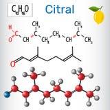 Citral lemonal Aldehydy w naturze Zdjęcie Royalty Free