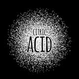 Citric acid as a white powder vector illustration Royalty Free Stock Images
