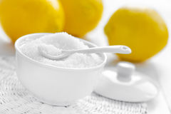 Citric acid. And fresh lemons Royalty Free Stock Images