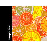 Citric card. Citric background card with room for your text Stock Photo