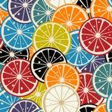 Citric tile. Lemon slice colored seamless Stock Photo