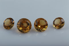 Citrine. Cut stone. Stock Image