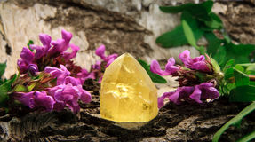 Citrine gem stone Stock Image