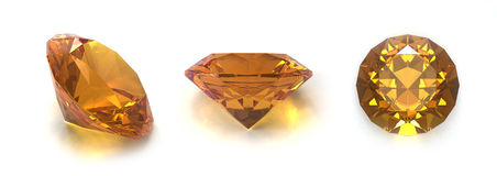 Citrine gems Stock Photo