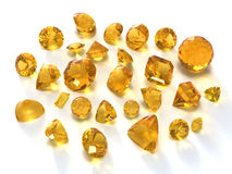 Citrine gems Stock Image