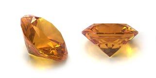 Citrine gems Royalty Free Stock Photo