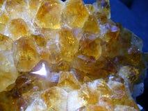 Citrine Gemstone. Close up view of citrine gemstone cluster Stock Photo