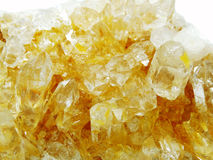 Citrine geode geological crystals Stock Images
