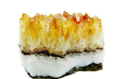 Citrine geode geological crystals Royalty Free Stock Photography