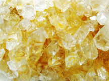 Citrine geode geological crystals Stock Photography