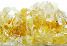 Citrine geode geological crystals Stock Image