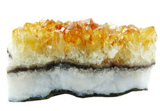 Citrine geode geological crystals Royalty Free Stock Image