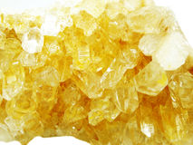 Citrine geode geological crystals Royalty Free Stock Photo
