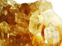 Citrine geode geological crystals Royalty Free Stock Images