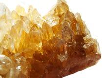 Citrine geody geological kryształy obrazy stock