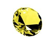 citrine isolerad juvel Fotografering för Bildbyråer
