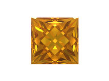 Citrine jewel on white background Stock Photography