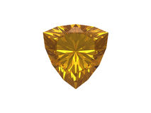 Citrine jewel on white background Stock Image