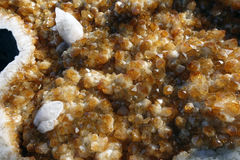 Citrine and other geode geological crystals Stock Photography