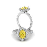 Citrine ring. Background diamond shape illustration 3D rander Royalty Free Stock Photography