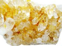Citrine rock crystal quartz geode geological crystals Royalty Free Stock Photos