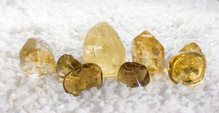 Citrine or the stone of success Royalty Free Stock Photography