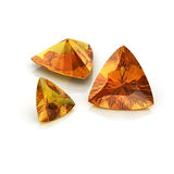 Citrine trilliant cutting Royalty Free Stock Image