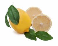 Citrino fresco do limão com corte Fotos de Stock Royalty Free