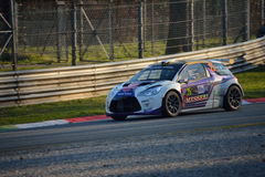 Citroën DS3 rally car at Monza Royalty Free Stock Photography