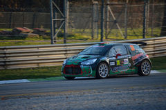 Citroën DS3 rally car at Monza Royalty Free Stock Photo