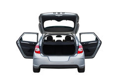 Citroën C4 isolated rear Royalty Free Stock Image