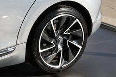 """Citroà """"n DS5后轮轮胎 免版税库存照片"""