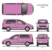 Citroën Berlingo snakt Bestelwagen van Combi van 2016 de Professionele Royalty-vrije Stock Afbeeldingen