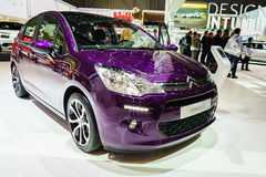 Citroën C3, Motorshow Geneve 201 Royalty-vrije Stock Foto's